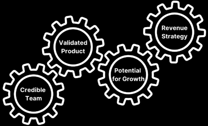 Credible Team_Validated Product_Potential for Growth_Revenue Strategy